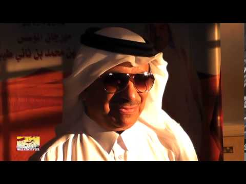 لقاء خاص مع سعادة الشيخ حمد بن جاسم آل ثاني ،،، رئيس اللجنة المنظمة لسباقات الهجن … في ختام مهرجان المؤسس ٣٠-١٢-٢٠١٤